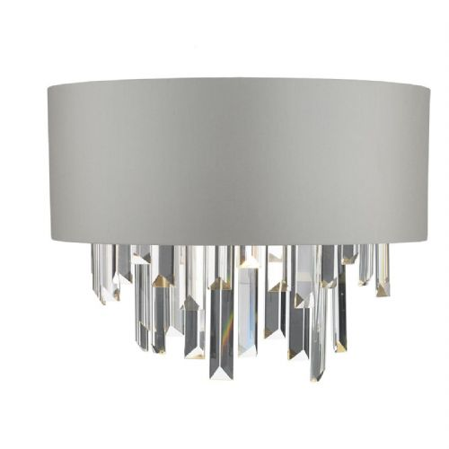 Halle Wall Light Grey & Crystal Cw Shade (double insulated) BXHAL0939-17